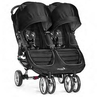 Baby Jogger 2016 City Mini Double Stroller - Black / Grey - New! Free Shipping!