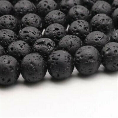 "4 mm volcano lava Loose bead Making Jewelry 1PCS 15"" Strand Craft Beaded Spacer"