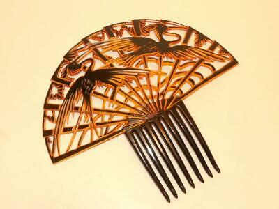 1920's Beautiful Perfect Very Rare Art Deco Vtg Celluloid Large Huge Hair Comb