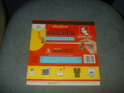 Super Long Matches Redheads Matchbox Label Skillet From Australia