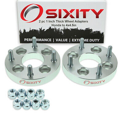 """2pc 4x3.9"""" to 4x4.5"""" Wheel Spacers Adapters 1"""" for Honda Accord Civic del ev"""
