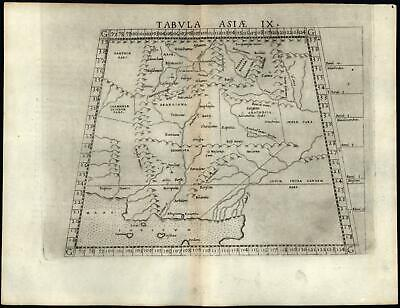 Pakistan Afghanistan Ptolemy 1562 Ruscelli Ptolemaic very early printed map