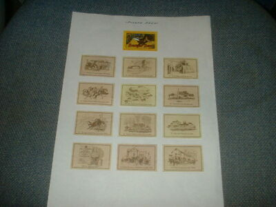 Set Of 12+1 Matchbox Labels Hall Woodhouse Brewery Badger Beer