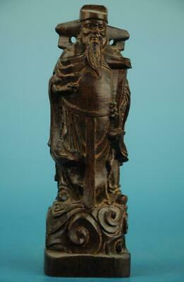Chinese eaglewood hand-carved god of wealth Buddha Statue  b01