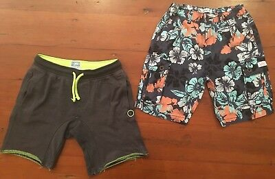 2 x Boys Shorts - Size 12 - WAYNE JNR & PIPING HOT - Excellent Condition
