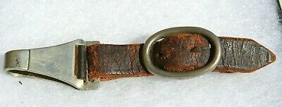 German Wwii Dagger Scabbard Original Leather Hanger With Buckle