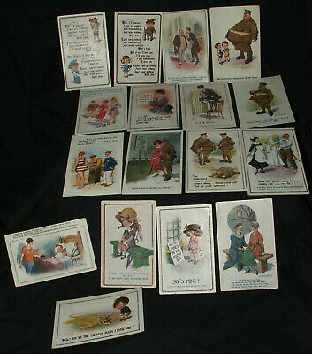 Donald McGill postcars, sent during war time, some stamps