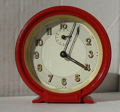 Great Very Old Bright Red Alarm Clock from UNKNOWN MAKER