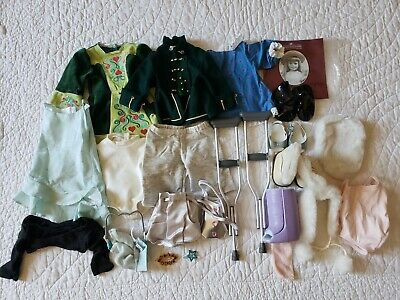 """LOT Of 22 PC Doll Clothes & Accesories To Fit American Girl Dolls 18"""" Clothing"""