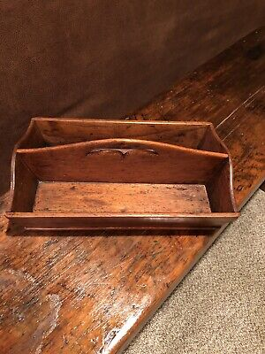Antique - Primitive Hand Carved Wooden - Carry All - Tote Box