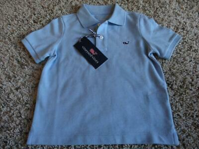 NEW Toddler Boys VINEYARD VINES STRETCH Blue PIQUE POLO SHIRT    Size 2T
