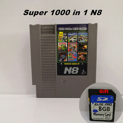 New N8 NES for Nintendo Famicom FC with 8gb sd card & 1000+ games Free Shipping