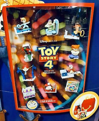McDonald's TOY STORY 4 COMPLETE 10PC SET SEALED LOOK🍔🍟🍔🍟🍔HAPPY MEAL🍔🍟🍔🍟