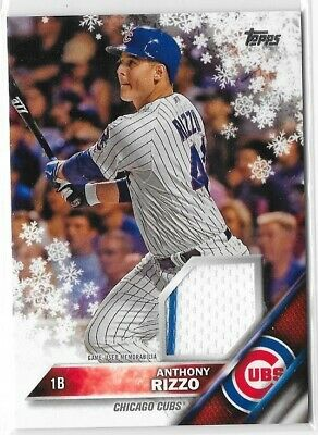 timeless design 47a38 4e61d ANTHONY RIZZO 2016 Topps Walmart Holiday Mega Relic Card Snowflake Ag136C