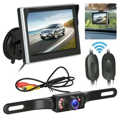 Car Backup Camera Rear View System Night-Vision + Wireless 5 Inch Tft Lcd M W1F8