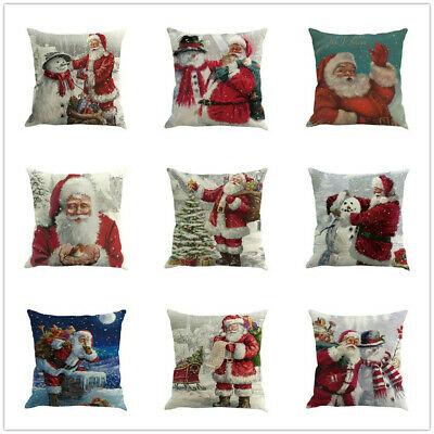 Christmas Printing Dyeing Sofa Bed Home Decor Pillow Cover Cushion Cover