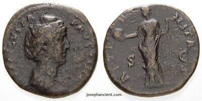 Ancient Roman Coin – Faustina I, Posthumous issue, Sestertius 361 – 366 AD (050)
