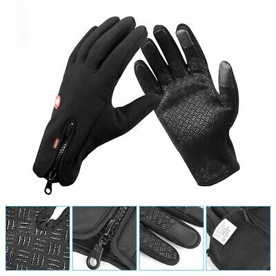 Touch Screen Winter Bike Bicycle Cycle Thermal Warm Protection Gloves Windproof