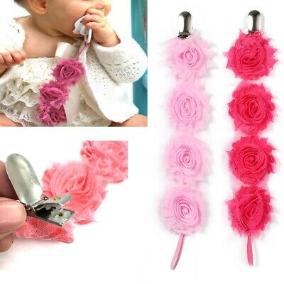 Baby Girl & Boys Dummy Pacifier Soother Nipple Chain Clip Toy Chain Holder