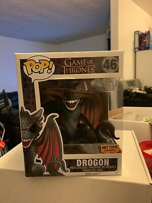 Funko Pop! Game of Thrones 6 Inch Drogon #46 Red Eyes Hot Topic Exclusive