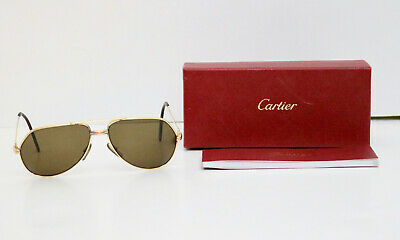 Cartier Gold Must de Vendome Trinity Vintage Sunglasses with a box and booklet