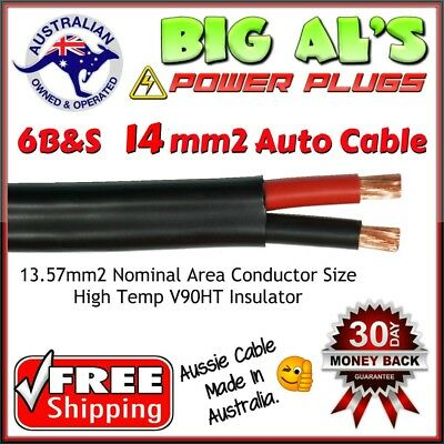 10 metre x 6 B&S Twin Core, Sheath Automotive Auto Dual Battery Cable Wire 12v