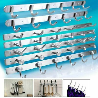 Stainless Steel Wall Mounted Clothes Coat Key Hanger Rack Hook Holder Organizer