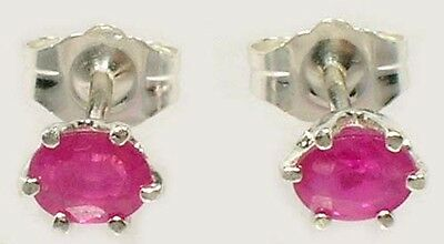 2 Antique 19thC Ruby Medieval Shaman Sorcery Talisman Gemstones Earrings