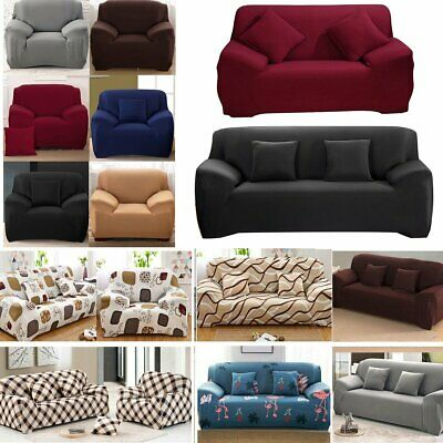 1 2 3 4 Seater High Stretch Sofa Cover Couch Lounge Recliner Slipcover Protector