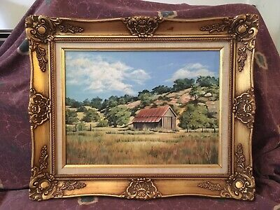 Original Texas Hill Country Oil Painting Signed Chinny