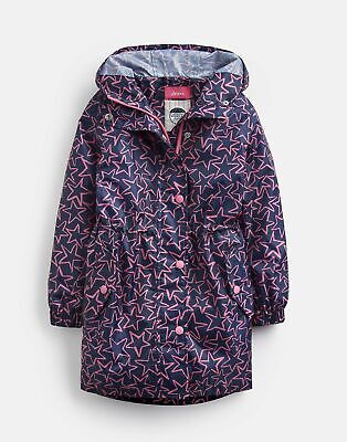Joules Waterproof Rubber Coat in FRENCH NAVY SEA PONY