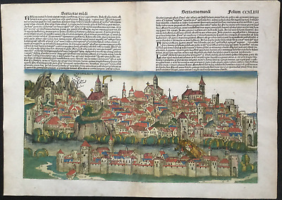City view BASEL, Nuremberg Chronicle 1493 - Liber chronicarum, Schedel, SWISS
