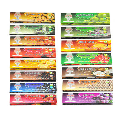 5 Fruit 250 Leaves Flavored Smoking Cigarette Hemp Tobacco Rolling Papers