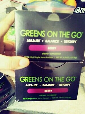 It works greens on the go berry 2 boxes of 30 . 60 singles packs