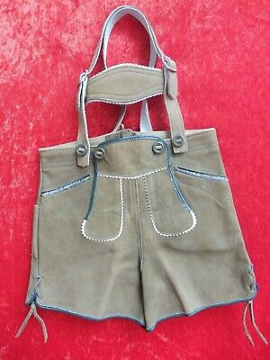 Premium Leather Pants, Gr.104, Made in Germany, Shorts with Dishes, Children