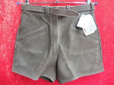 High Quality Leather Pants, Size 38, Made in Germany, Shorts, Lavano