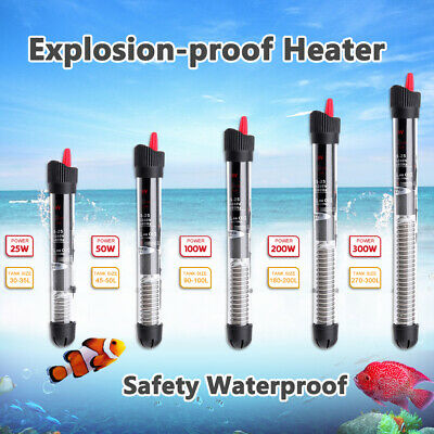 Tropical Aquarium  Heater 25/50W 100W 200W 300W Fish Tank Thermostat Submersible