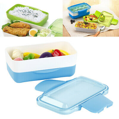 2Layer Student Worker Kids Microwave Lunch Box Picnic Food Container Storage Box