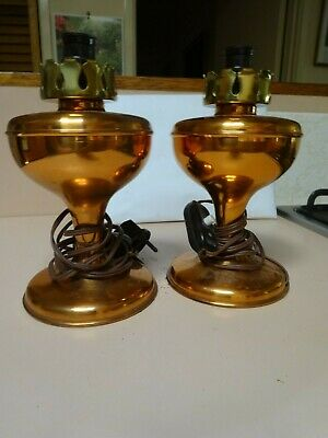 COPPER table lamp bases(pair).TAPIOL. Made in Portugal.