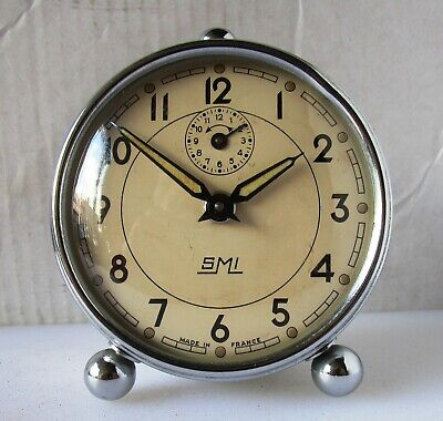 Lovely Quality Vintage Chrome Alarm Clock from SMI
