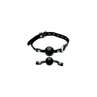 Interchangeable Silicone Ball Gag Set - Black bondage maschera ball gag SLAVE ma