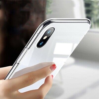 For iPhone 6 7 8 Plus X XS Max 11 Pro Max Case Soft Silicone Clear Slim Gel TPU