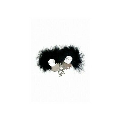 Metal and Feather Handcuffs - Black costrittivo manette BDSM sadomaso legatura m