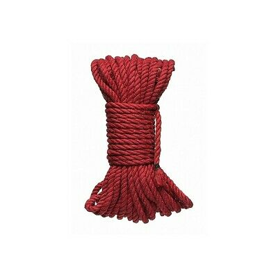 KINK - 6mm Hemp Bondage Rope - 50 Ft. Red costrittivo manette BDSM sadomaso lega