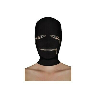 Extreme Zipper Mask with Eye and Mouth Zipper costrittivo manette BDSM sadomaso