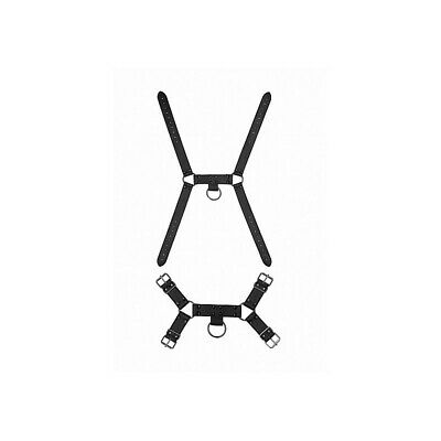 Ouch! Skulls and Bones - Male Harness with Spikes - Black costrittivo manette BD