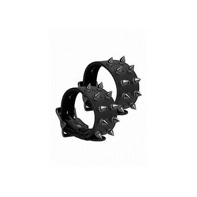Ouch! Skulls and Bones - Handcuffs with Spikes - Black costrittivo manette BDSM