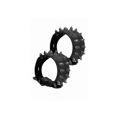 Ouch! Skulls and Bones - Ankle Cuffs with Spikes - Black costrittivo manette BDS