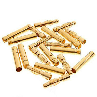 Lots 4mm Gold-plated Bullet Banana Plug Male & Female Connector for RC B DSW
