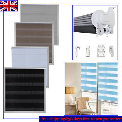 Day and Night Zebra/Vision Window Roller Blinds Striped  4 Colors&11 Sizes